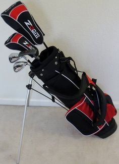 Boys Right Handed Junior Golf Club Set with Stand Bag for Kids Ages 8-12 Red Color Premium Jr. Professional Quality at http://suliaszone.com/boys-right-handed-junior-golf-club-set-with-stand-bag-for-kids-ages-8-12-red-color-premium-jr-professional-quality/