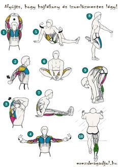 Stretching after running