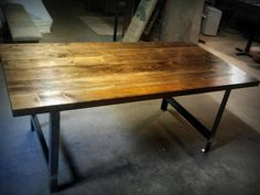 Salvaged Fir and Raw Iron Dining Table