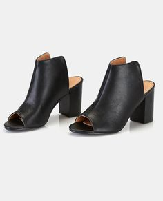 Vegan Leather Backless Mules Vegan Leather Backless Mules