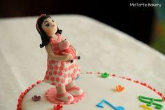 Birthday Girl with her favourite Peppa #customizedbirthdaycake #MiaTorteBakery #Hyderabad