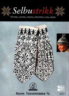 Design for felt ornaments Mitten pattern from Selbu Norway. My ancestral home. Fair Isle Knitting Patterns, Knitting Charts, Knitting Stitches, Knitting Designs, Knitting Needles, Knitting Books, Crochet Books, Lace Knitting, Knit Crochet