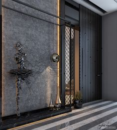 villa main entrance on Behance : villa main entrance on Behance Main Entrance Door Design, Home Entrance Decor, Apartment Entrance, Modern Entrance, Entrance Foyer, House Entrance, Entrance Halls, Entryway, Door Design Interior