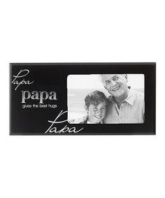 Black & Silver 'Papa' Frame by  #zulily #zulilyfinds