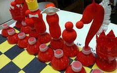 Шахматы из пластиковых бутылок. Мастер-класс