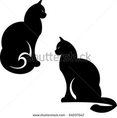 Vector cats illustration isolated on white - stock vector