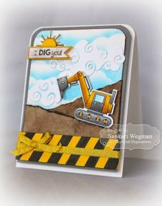 Sankari's Sunshine Corner - I Dig You! card using Taylored Expressions stamps/dies