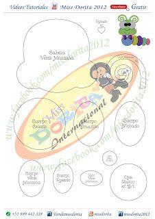 Miss Dorita: Gusanito Lindo Felt Patterns, Stuffed Toys Patterns, Bug Crafts, Punch Art, Felt Toys, Ladybug, Bee, Baby Shower, Ideas