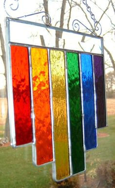 Stained Glass Rainbow Multi Length Suncatcher by Love Rainbow, Over The Rainbow, Rainbow Colors, Rainbow Stuff, Rainbow Things, Rainbow Glass, Rainbow Room, World Of Color, Color Of Life