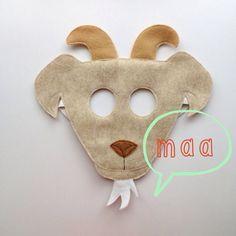 Goat Mask tan CHILD by oppositeoffar on Etsy, $16.00