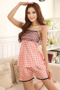 Find More Pajama Sets Information about Summer 2017 Female Sexy Silk Pajamas Set Fashion Sleeveless Silk Nightwear One Size Lounge Pajamas Set Lovely Girl Home Wear,High Quality home wear,China silk pajamas set Suppliers, Cheap pajama sets from Bys Store Store on Aliexpress.com