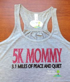 5K MOMMY Flowy Tank, Sparkle Workout / Runner Racerback Tank