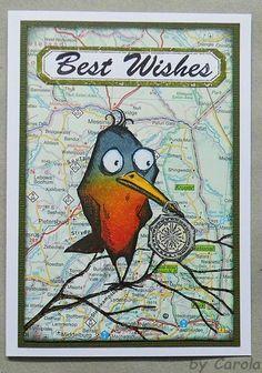 Caro's Welt: Crazy Birds auf Reisen - ATCs und Karte