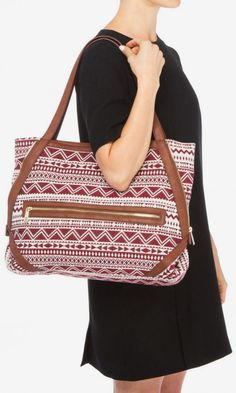 Red and Brown Leather Bag, sewing inspiration