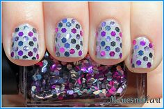 Glitter polka dots!