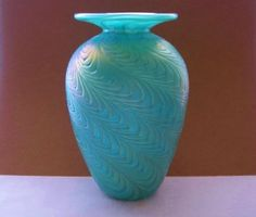 INCREDIBLY Magnificent ART Glass VASE Deeply TEXTURAL Designs SUBTLE Iridescence