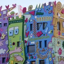 Colourful housing