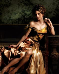 Female Portrait - Golden Dress