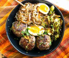 Teriyaki Meatball Noodle Bowl (Keto, Paleo, AIP +Whole30 option)