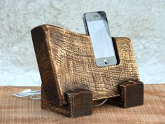 Wooden iPhone Stand. EcoFriendly iPhone station. by WoodRestart via Etsy #SupaDaily #SupaSistaLatina