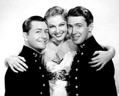 Robert Young, Florence Rice and Jimmy Stewart in 'Navy Blue and Gold' (1937)
