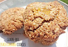 Grain-Free Peach Crumble Cookies Recipe {also free of dairy and eggs} #paleo http://www.thisflourishinglife.com/2013/07/recipe-grain-free-peach-crumble-cookies.html