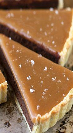 salted caramel bittersweet chocolate tart More