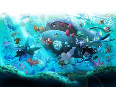 This HD wallpaper is about Pokemon Underwater Underwater Anime Pokemon HD Art, Original wallpaper dimensions is file size is Pokemon Firered, Pokemon Moon, Pokemon Fan Art, Pokemon Rules, Pokemon Stuff, Cool Pokemon Wallpapers, Cute Pokemon Wallpaper, Alex Craft, Water Type Pokemon