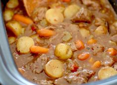 Crock Pot Chunky Beef & Potato Stew - The Country Cook