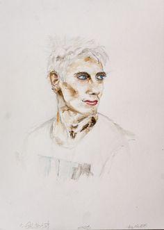 Just Me Self portrait 2015 Watercolor, Pencil by Andreas Riegger Ink Art, Portrait, My Arts, Pencil, Watercolor, Watercolor Painting, Men Portrait, Portrait Illustration, Watercolors