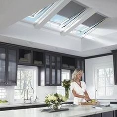Our VELUX Sun Tunnel (tubular skylight) delivers natural lighting to small, hard to reach spots and is quick and easy to install. Find useful and cheap sun tunnels with VELUX. Skylight Window, Roof Window, Timber Ceiling, Home Ceiling, Roof Design, House Design, Blockout Blinds, Solar, Roof Light
