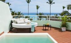 Amazing private deck off your room at Excellence Punta Cana Adults-Only, #allinclusive resort!