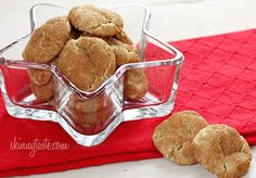 Skinny Whole Wheat Snickerdoodles - Whole wheat skickerdoodle cookies coated with cinnamon, spice and everything nice! If you have plans to do some baking this weekend, these cookies are a must!