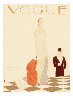 Vogue Cover - December 1925 Regular Giclee Print