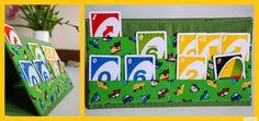Kartenhalter mit gratis Tutorial / Nähanleitung zum Nachnähen. by: ***www.missmommypenny.de*** Free DIY tutorial for this awesome playcardholder for kids.