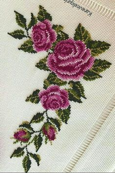 Cross Stitch Borders, Cross Stitch Rose, Cross Stitch Flowers, Embroidery, Design, Herb, Crochet Table Runner, Towels, Throw Pillows