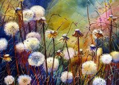 "Mary Gibbs - ""Dandelions"" Watercolor:"