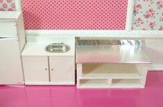 Finished building a stainless steel table for the prep area of my miniature bakery.