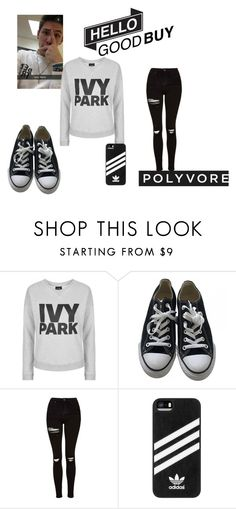 """a morning in a park with Mr.Reynolds"" by thevamps1993 ❤ liked on Polyvore featuring Topshop, Converse and adidas"
