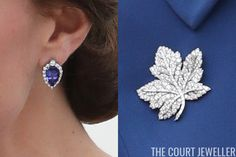 thecourtjeweller:  Canada Tour, Day 1, Victoria, British Columbia, September 24, 2016-Duchess of Cambridge with her G. Collins & Sons tanzanite and diamond earrings and the Queen's Diamond Maple Leaf Brooch, a gift from the nation of Canada to Queen Elizabeth the Queen Mother during her visit in 1939