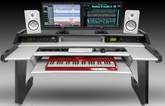 Icon Picks: 10 Best Studio Desks For Music Production Home Studio Setup, Home Studio Music, Studio Room, Studio Ideas, Audio Studio, Studio Table, Music Desk, Piano Desk, Recording Studio Desk