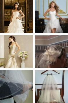 wedding dresses and veils