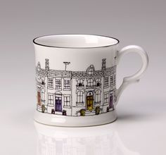 My house designs onto English ceramics. Available at www.notonthehighstreet.com/lindseybusbydesigns