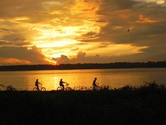 Looking for a fun family activity in Hilton Head? Go for a sunset bike ride!