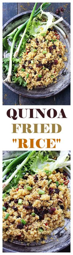 Crunchy pecans, sweet raisins, and flavorful curry make this quinoa-dish a perfectly delicious and light meal.