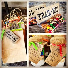 Western party favors... I like the trail mix treat :)
