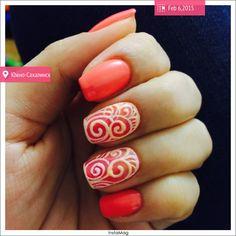 #nailart#spring#manicure#coral#nails
