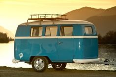 Dinky Dub Camper - so charming!! I would love to switch out our class-A beast for this looker.