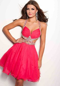 Tulle Beading Short Length Halter  Chic Cocktail Dress picture 1