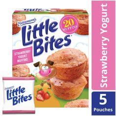 Strawberry Yogurt Muffins, Strawberry Filling, Cereal Recipes, Muffin Recipes, Snack Recipes, Corn Muffins, Mini Muffins, Mini Bananas, Dried Strawberries
